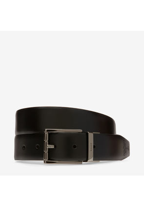 Marcella 30Mm Black, Womens calf leather fixed belt in black Bally