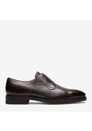 Scanio Brown, Mens leather Oxford in coffee Bally