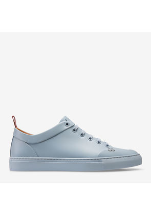 Herbi Multicolor, Mens printed goat leather low-top trainer in silver Bally