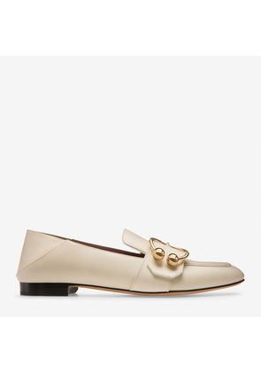 Ballet Flats Ballerina Shoes for Women On Sale, Bone, Leather, 2017, 3 3.5 Bally