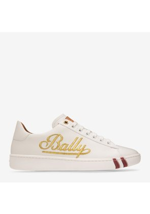 Heidy White, Womens calf leather low-top trainer in white Bally