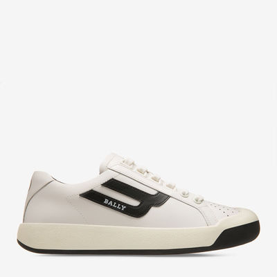 Wiera White, Womens calf leather trainer in white Bally