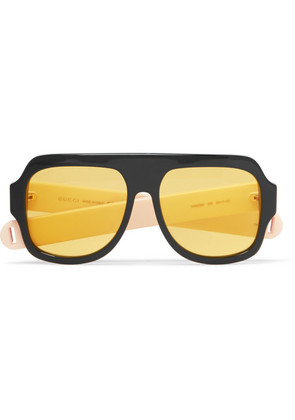 Oversized Aviator-style Acetate Sunglasses