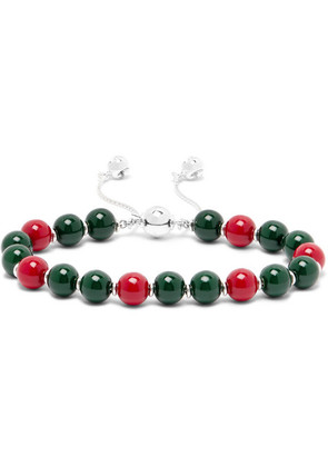 San Valentino Sterling Silver And Bead Bracelet
