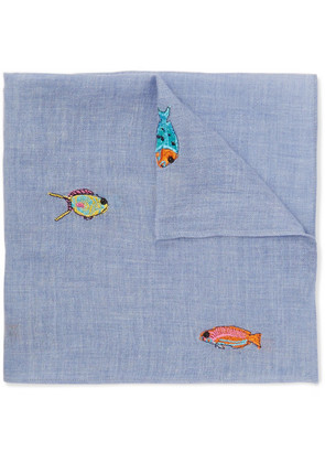 Embroidered Cotton Pocket Square