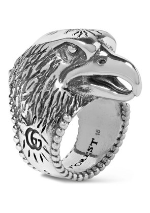 Eagle's Head Sterling Silver Ring