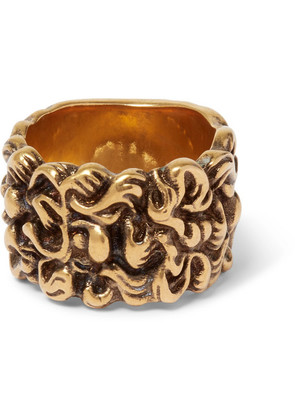 Burnished Gold-tone Ring