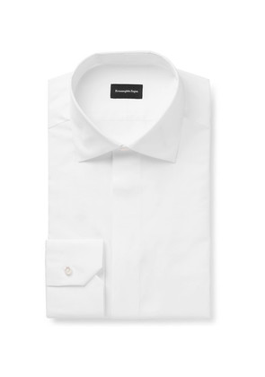 White Cotton And Silk-blend Poplin Shirt