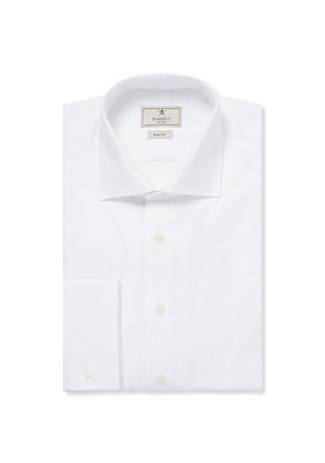 White Mayfair Cotton Tuxedo Shirt