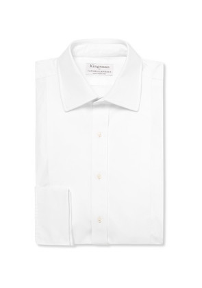+ Turnbull & Asser White Bib-front Cotton Tuxedo Shirt