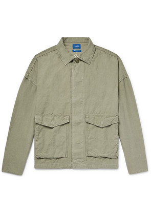 Embroidered Cotton And Linen-blend Shirt Jacket