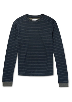 Striped Cotton And Cashmere-blend Pyjama Top