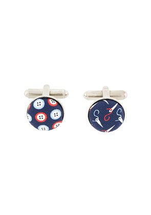 Fefè button and needle print cufflinks - Red