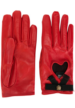 Gucci heart gloves - Red