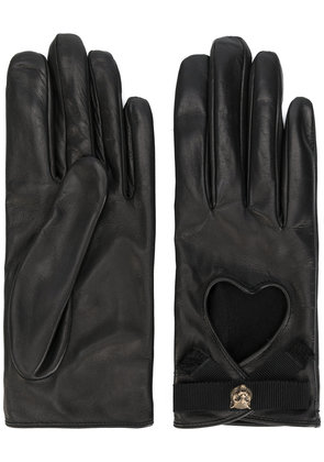 Gucci Heart cut-out driving gloves - Black