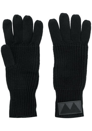 Marc By Marc Jacobs ribbed knit gloves - Black