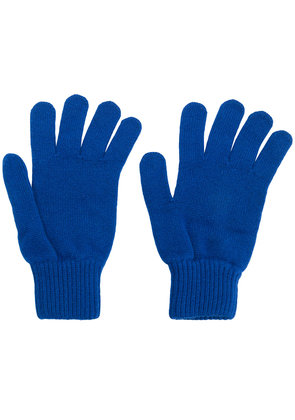Paul Smith ribbed cuff gloves - Blue