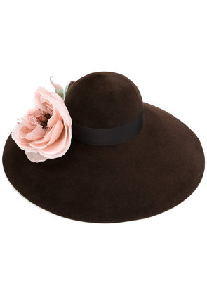 Gucci Corsage wide brim hat - Brown