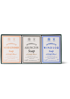 D R Harris - Three-pack Scented Soaps - White