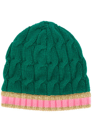 Gucci Arran Knitted Hat with Webbing - Green