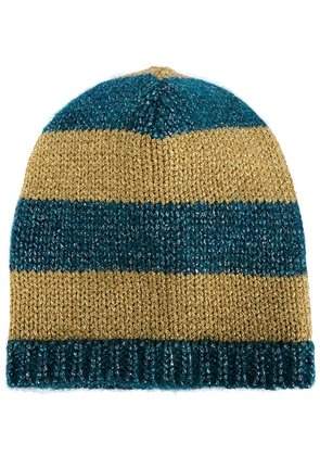 Gucci striped knit beanie - Blue