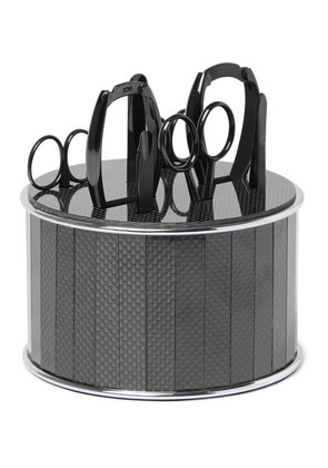 Bamford Grooming Department - Stainless Steel And Carbon Fibre Manicure Set - Black