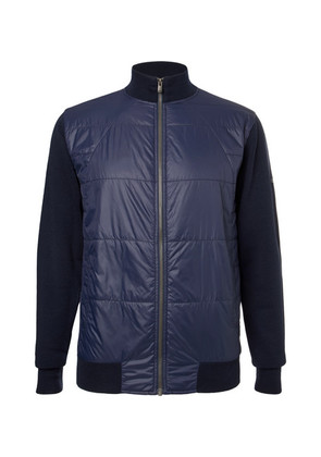 Newmill Quilted Shell And Wool Zip-up Golf Jacket