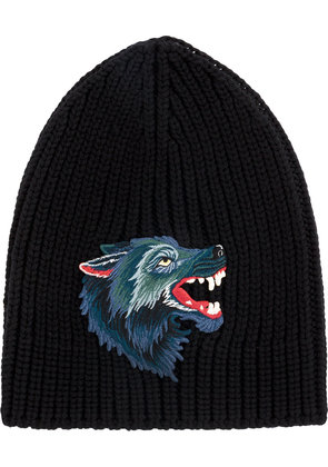 Gucci knitted Wolf hat - Black