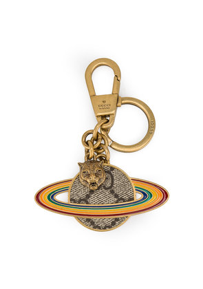 Gucci Planet GG Supreme keyring - Multicolour