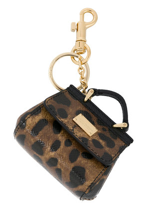 Dolce & Gabbana mini Sicily bag keyring - Brown