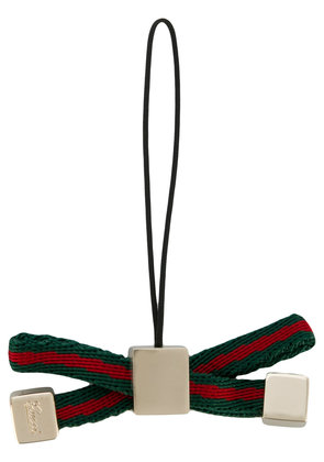 Gucci Signature bow keyring - Green