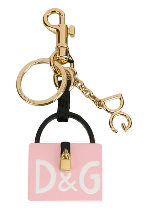 Dolce & Gabbana Dolce Box Charm key ring - Pink & Purple
