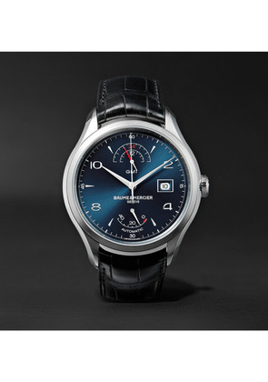 Baume & Mercier - Clifton Automatic 43mm Stainless Steel And Alligator Watch - Blue