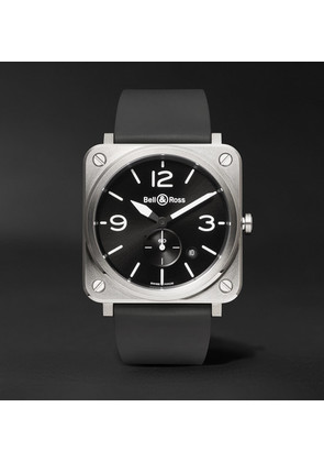 Bell & Ross - Br S 39mm Steel And Rubber Watch - Black