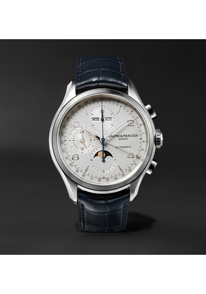 Clifton Automatic Chronograph 43mm Stainless Steel And Alligator Watch