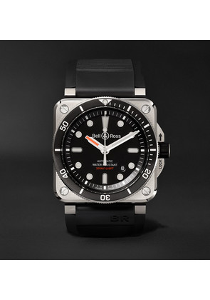 Br 03-92 Diver Type 42mm Stainless Steel And Rubber Watch