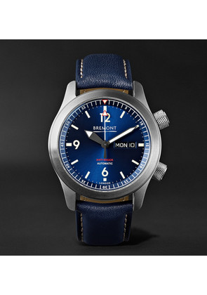 Bremont - U2/bl Automatic 45mm Stainless Steel And Leather Watch - Blue