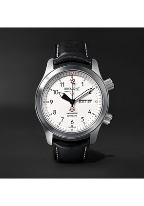 Bremont - Mb Ii 43mm Stainless Steel And Leather Watch - White
