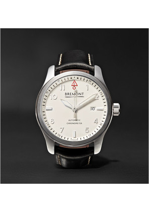 Bremont - Solo P/w Automatic 43mm Stainless Steel And Leather Watch - White