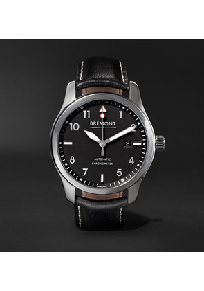 Bremont - Solo/pb Automatic 43mm Stainless Steel And Leather Watch - Black