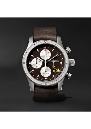 Boeing 100 Automatic Chronometer 43mm Titanium And Leather Watch