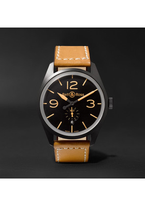 Bell & Ross - Br 123 Heritage Automatic 41mm Pvd-coated Steel And Leather Watch - Black