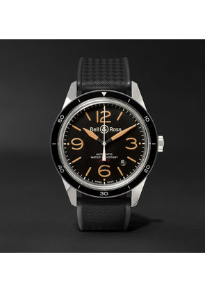 Bell & Ross - Br 123 Sport Heritage Automatic Steel And Rubber Watch - Black