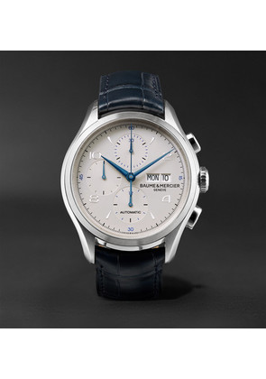 Baume & Mercier - Clifton Automatic Chronograph 43mm Stainless Steel And Alligator Watch - White