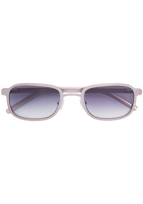 Blyszak Brushed silver steel frame III sunglasses with smoke lens -