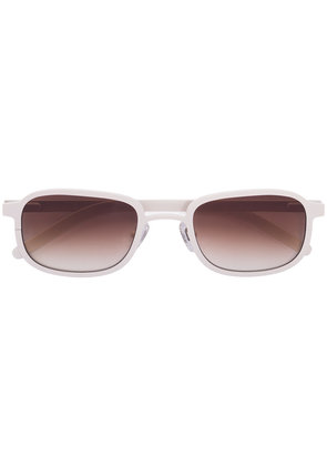 Blyszak Porcelain steel frame III sunglasses with amber lens - White