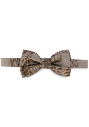 Valentino checked bow tie - Brown