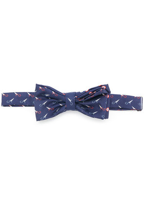 Fefè printed bow tie - Blue