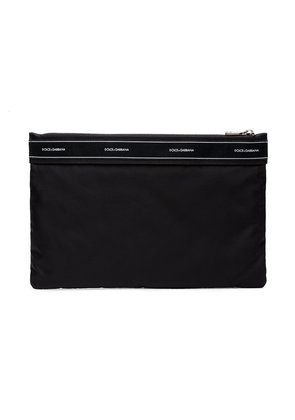 Dolce & Gabbana Black Logo Wash Bag