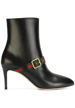 Gucci web-trimmed ankle boots - Black